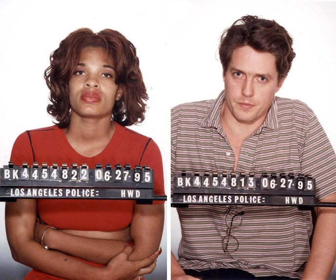 Divine Brown and Hugh Grant's mugshots.