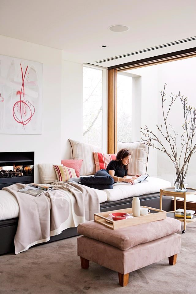 Soft carpet adds an extra layer of textural interest to a room.
