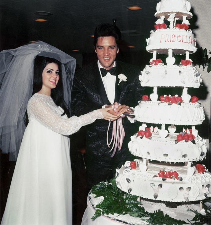Wedding Photos of Elvis Presley to Priscilla on May 01,1967 (Photo by Michael Ochs Archives/Getty Images)