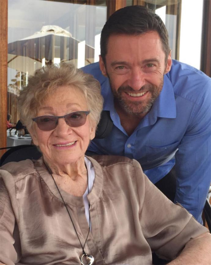 "Hugh referred to his late mother-in-law as ""wise, funny, loving, cheeky, generous"" in his tribute"