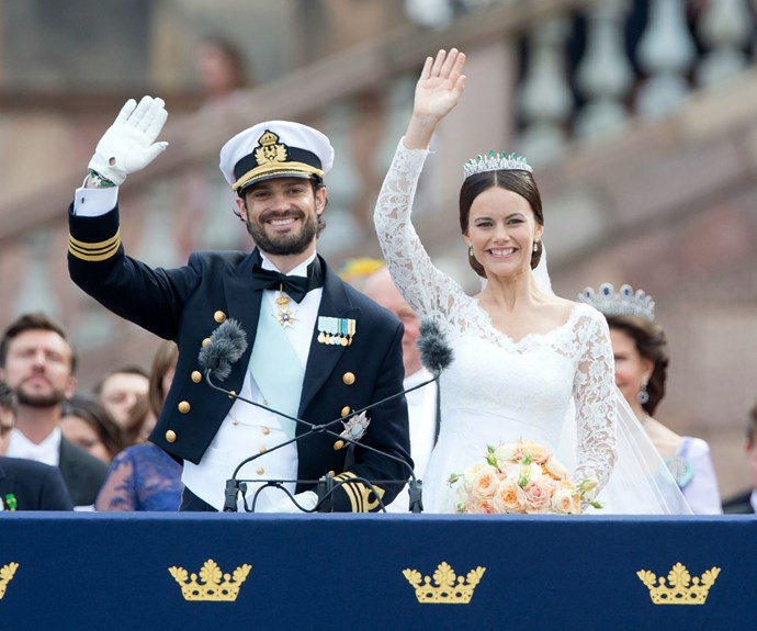 Thousands of well-wishers lined the streets for the wedding of Prince Carl Philip and Princess Sofia last year.