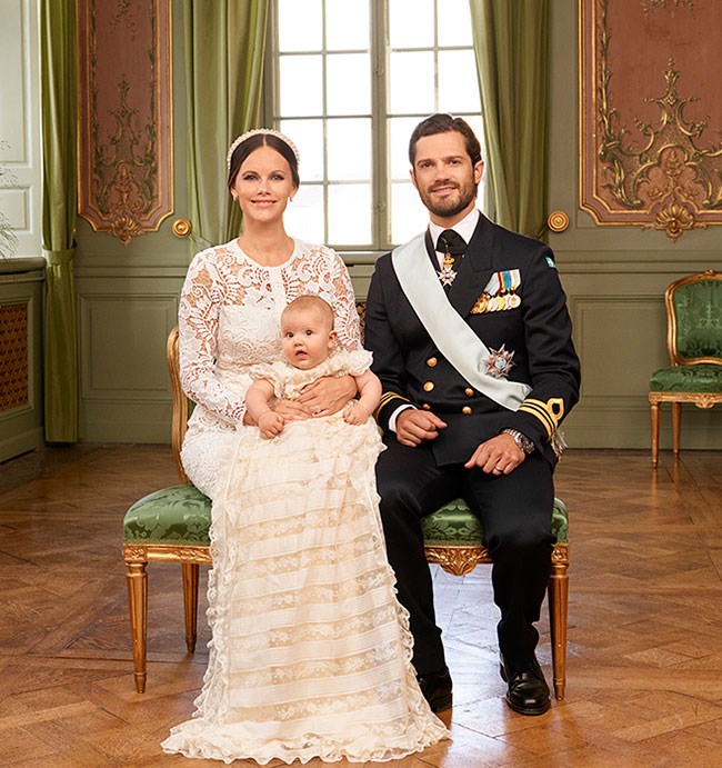 Princess Sofia and Prince Carl Philip and thier son Prince Alexander. PHOTO: Kungahuset / Mattias Edwall