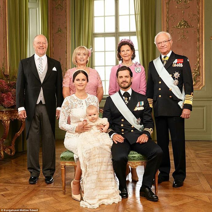 The young couple couple are joined by Carl Philip's parents, King Carl XVI Gustaf and Queen Silvia (right) as well as Sofia's parents, Marie and Erik Hellqvist. PHOTO: Kungahuset / Mattias Edwall