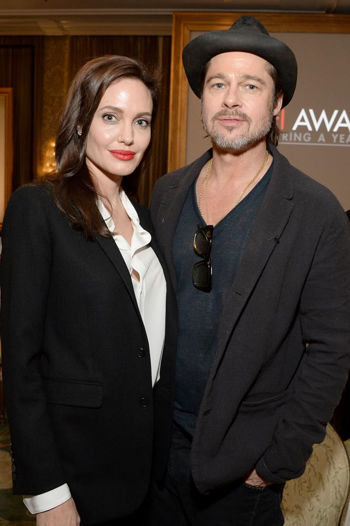 "**March 2015** Angelina Jolie Pitt announced she had surgery to remove her ovaries and fallopian tubes. In another piece for [*The New York Times*](http://www.nytimes.com/2015/03/24/opinion/angelina-jolie-pitt-diary-of-a-surgery.html|target=""_blank"") the actress wrote, ""It is not easy to make these decisions,"" but Brad remained by her side, once again."