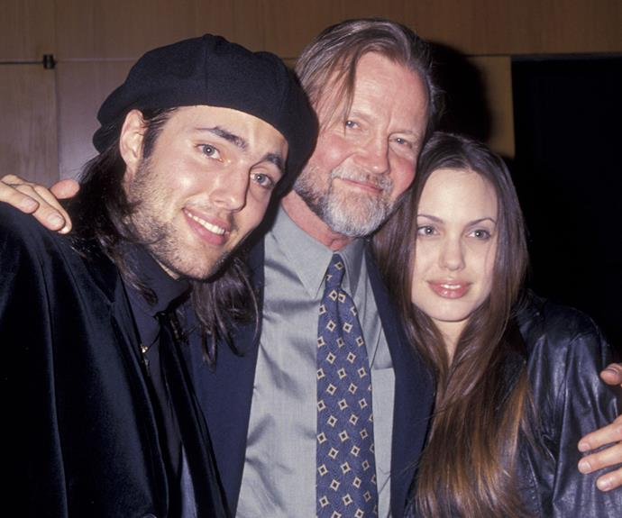 Angelina Jolie with brother James Haven and father Jon Voight.