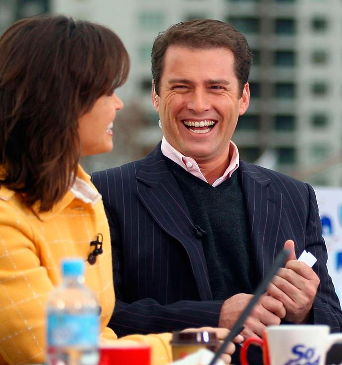 Karl ringless in 2007, with host Lisa Wilkinson. PHOTO: Getty