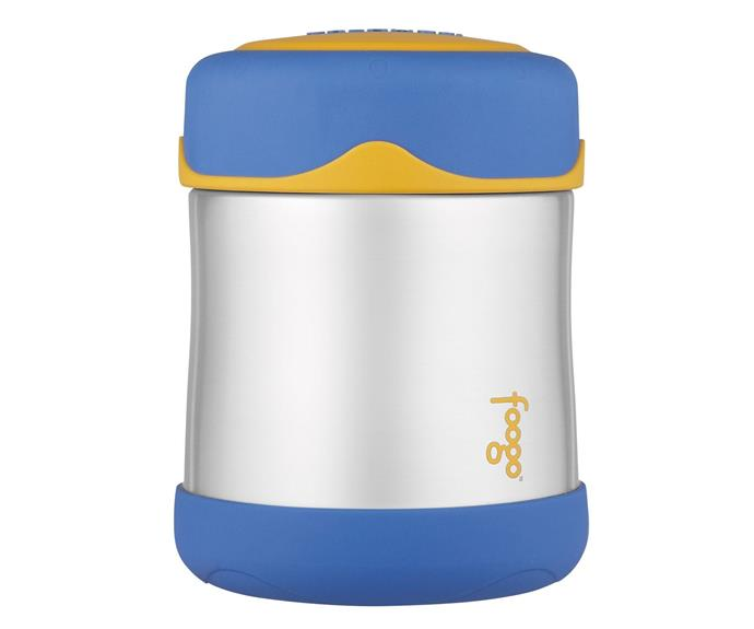 "An extension of the 110-year-old genuine Thermos brand, the Foogo range focuses on infant feeding for busy mums and bubs at home or on the go. The [Thermos Foogo Stainless Steel Vacuum Insulated Food Jar](http://www.thermos.com.au/|target=""_blank""), $29.99, features technology which keeps food at the right temperature and inhibits bacteria growth. This food jar can keep food warm for up to five hours and cold for up to seven hours. It's BPA-free and the jar is cool to the touch with hot foods and sweat-proof with cold. It also comes with a five-year warranty."