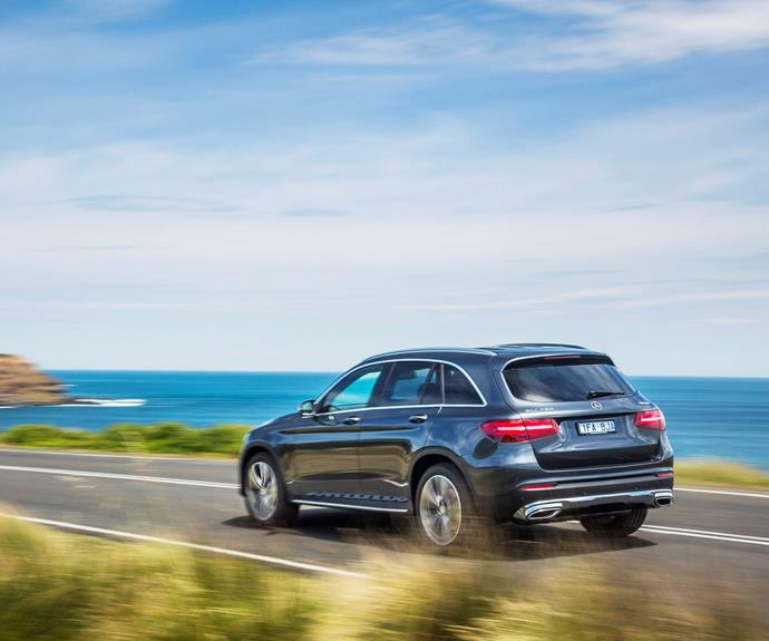 """*Mercedes-Benz GLC 220 d* The new mid-sized SUV from Mercedes-Benz features state-of-the-art driver assistance systems, great fuel efficiency and the new 9G-TRONIC transmission as standard. The entry-level model to the range has 19"""" Wheels, 4MATIC permanent all-wheel drive, KEYLESS-START, EASY-PACK (power) Tailgate, LED Intelligent Light System, Garmin MAP PILOT navigation with the innovative touchpad, Electric Front Seats and a 360 degree camera. The new GLC's rear seat features a 40/20/40 split and offers a cargo position which increases the load capacity by locking the backrests at a steeper angle. [Mercedes-Benz GLC 220 d](http://www.mercedes-benz.com.au/content/australia/mpc/mpc_australia__website/en/home_mpc/passengercars.html/