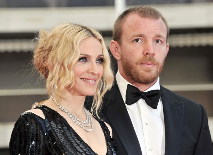 **Madonna's** split from **Guy Ritchie** cost her an estimated $92 million.