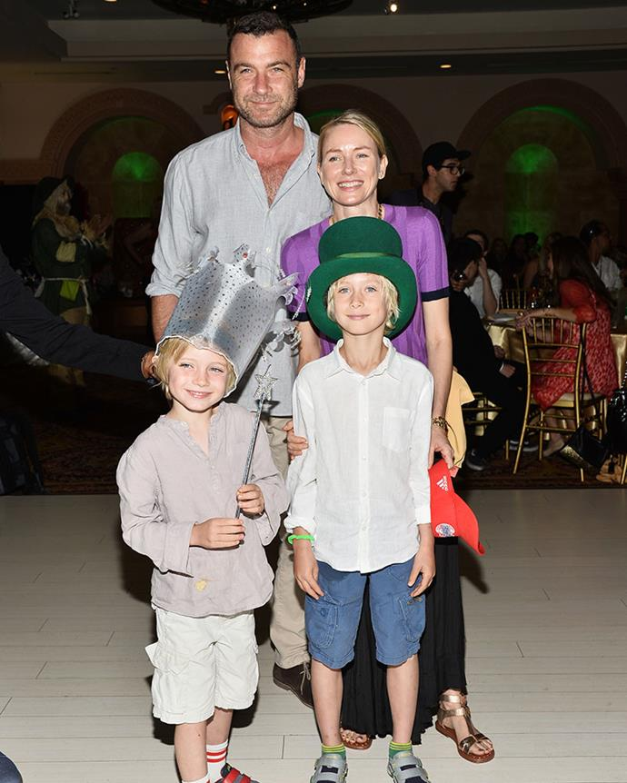 The couple with their kids Sasha and Samuel Kai, in March 2015. PHOTO: Getty