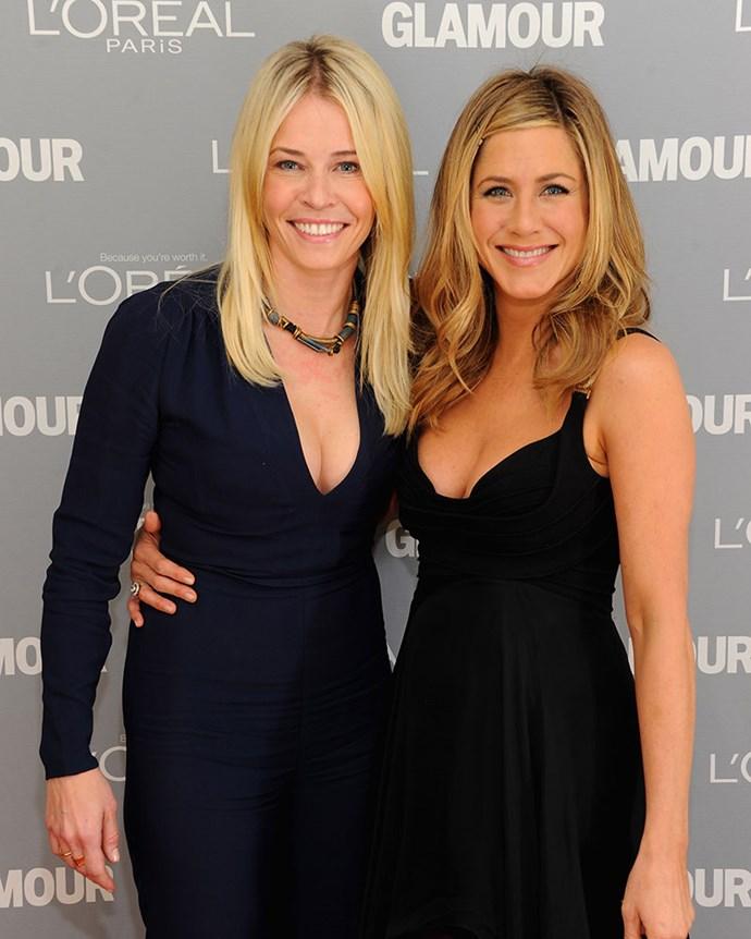 Jen's best friend Chelsea Handler.