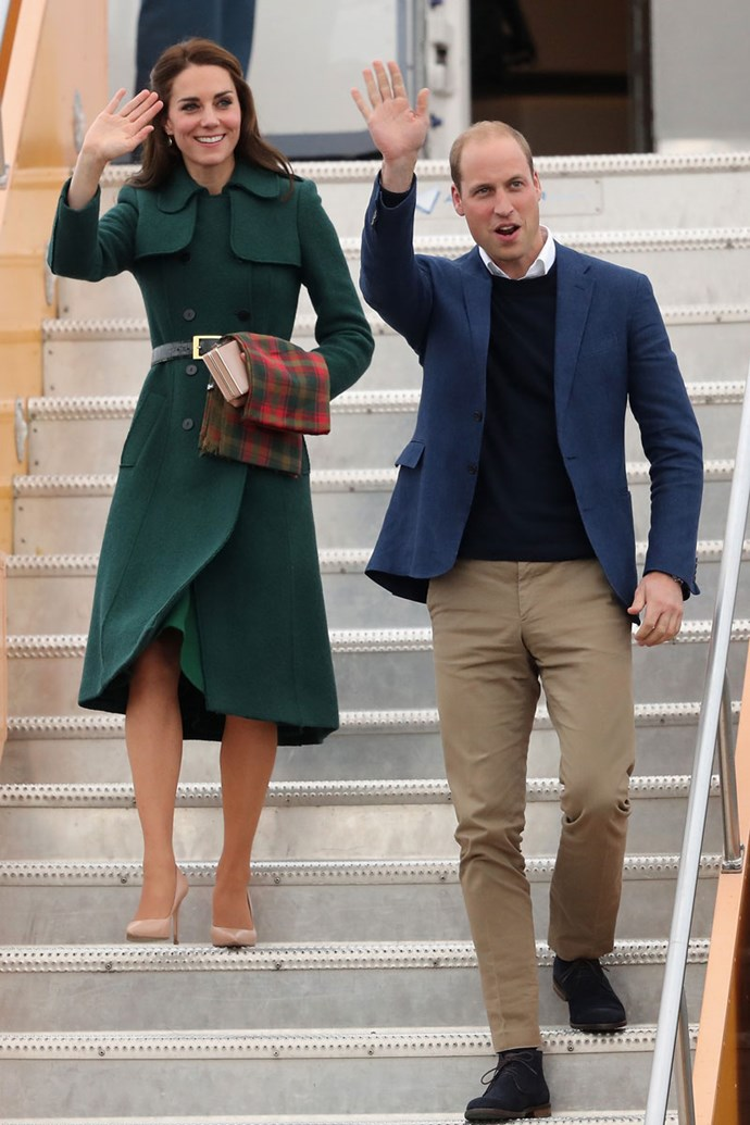 Kate and William arrive in the Yukon on their royal Canada tour in 2016.