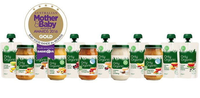 """CATEGORY: MOST POPULAR BABY FOOD. [Only Organic](http://www.onlyorganic.com.au/ target=""""_blank"""") features a delicious organic menu suitable for babies from the age of nine months. Certified Organic Pouch Meals RRP $2, Finger Foods RRP $4."""