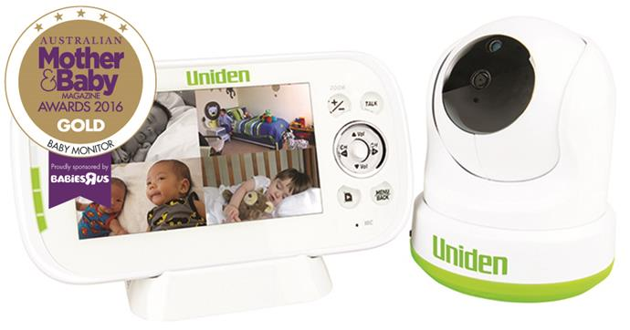"CATEGORY: MOST POPULAR BABY MONITOR.  The [Uniden Pan and Tilt Dual Baby Monitor with Smartphone App](http://www.uniden.com.au/AUSTRALIA/|target=""_blank"") RRP $349.95 performs as a standalone baby monitor and provides interactive opportunities with the Baby Watch app."