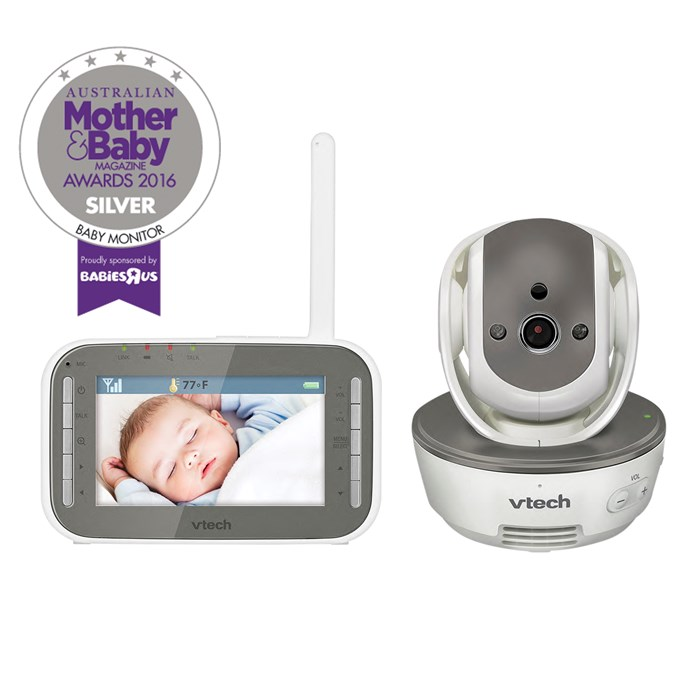 """CATEGORY: MOST POPULAR BABY MONITOR. The [VTech BM4500 Safe 'n' Sound Pan & Tilt Video and Audio Baby Monitor](http://auphones.vtech.com/home/