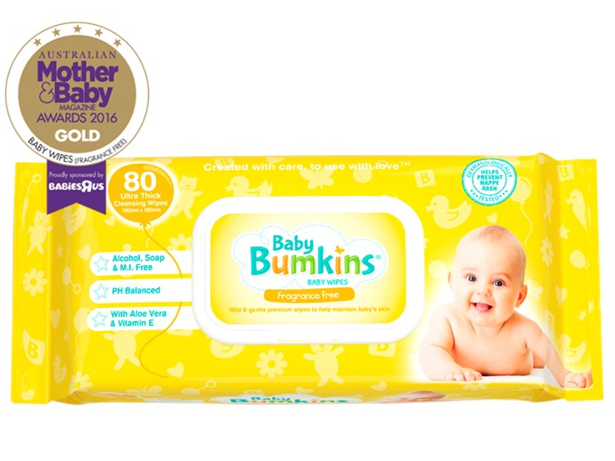 """CATEGORY: MOST POPULAR BABY WIPES (FRAGRANCE-FREE). [Platinum Retail Brands Baby Bumkins](http://www.platinumretailbrands.com.au/ target=""""_blank"""") RRP $3.99 have a moisture-locking flip top and come out one at a time. They are paraben-free and contain only the purest ingredients."""