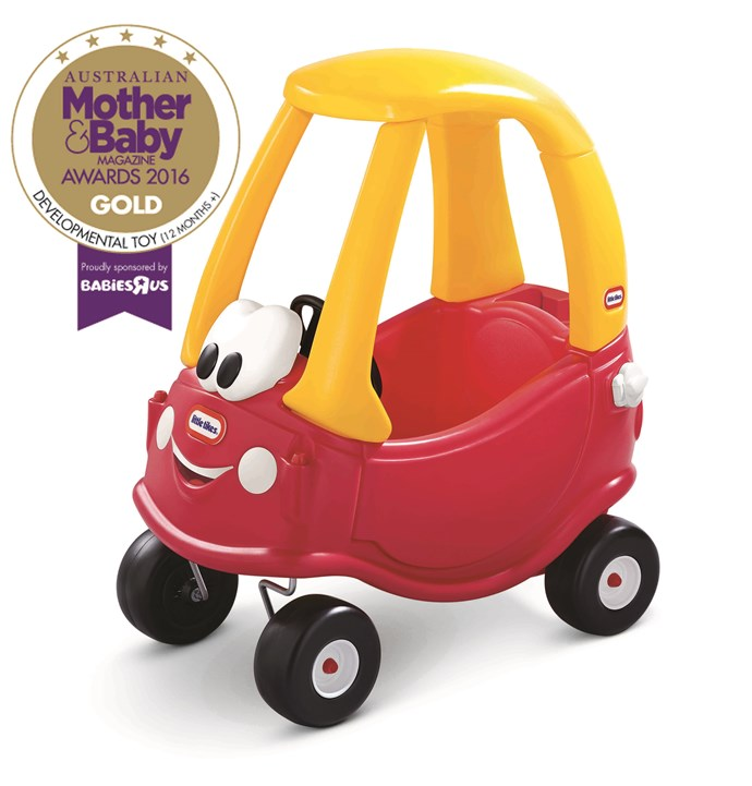 "CATEGORY: MOST POPULAR DEVELOPMENTAL TOY (12+ MONTHS). The [Little Tikes Cozy Coupe](https://www.headstartint.com/|target=""_blank"") RRP $129.95 mixes classic design and easy manoeuvrability. Used indoors or out, it encourages imagination and the development of large motor skills. <br><br> See the 2017 winners of the [best toddler learning toys](https://www.nowtolove.com.au/parenting/expert-advice/best-developmental-toys-for-12-months-australia-40896