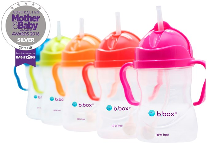 """CATEGORY: MOST POPULAR SIPPY CUP. The [b.box for kids  Sippy Cup](https://bbox.com.au/ target=""""_blank"""") RRP $14.95 has a weighted straw, simple flip-top lid and easy grip handles. It lets kids drink from any angle, even lying down."""