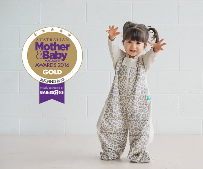 "CATEGORY: MOST POPULAR SLEEPING BAG. The [ergoPouch Sleep Suit](http://www.ergopouch.com.au/|target=""_blank"") RRP $84.95 converts from a sleeping bag to a sleep suit with legs using zippers making the transition from cot to pram an easy one."