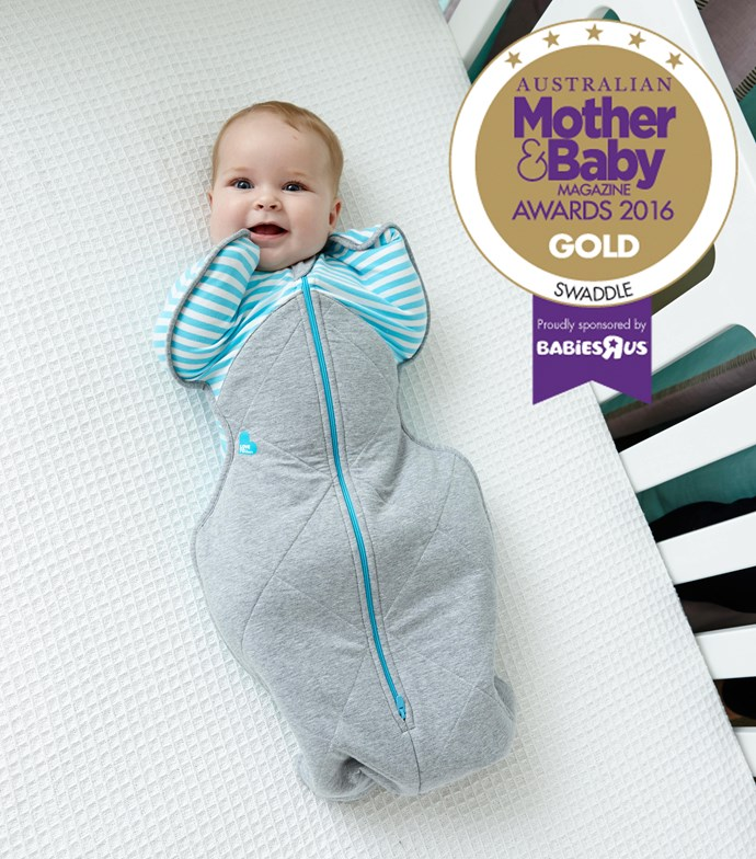 "CATEGORY: MOST POPULAR SWADDLE. The [Love To Dream Swaddle UP Winter Warm](https://lovetodream.com.au/swaddle-up-winter-warm/|target=""_blank"") RRP $46.95  has a built-in bamboo quilt for superior warmth and wings to allow babies to self-soothe without scratching their face."