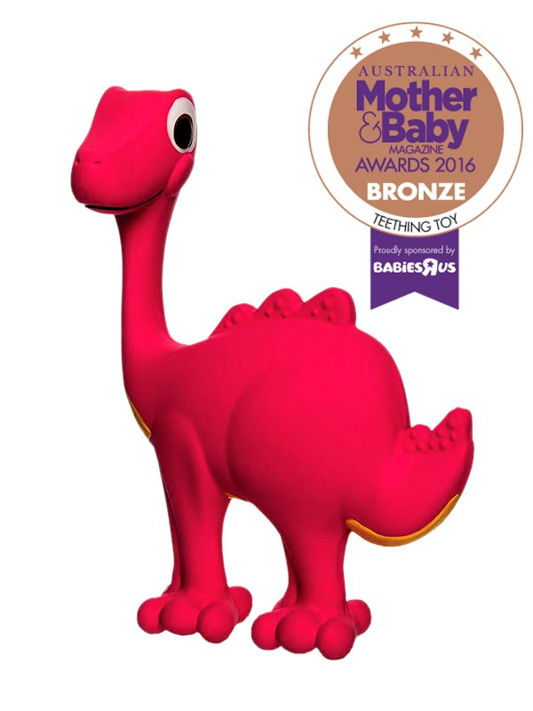 "CATEGORY: MOST POPULAR TEETHING TOY. The [NUK Soothasaurus](http://www.nuk.com.au/|target=""_blank"") RRP $19.99 is an engaging and stimulating sensory development toy designed to provide relief from teething."