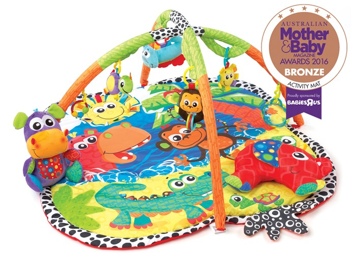 """CATEGORY: MOST POPULAR ACTIVITY MAT. The [Playgro Australia  Jingle Jungle Music and Lights Gym](http://www.playgro.com/