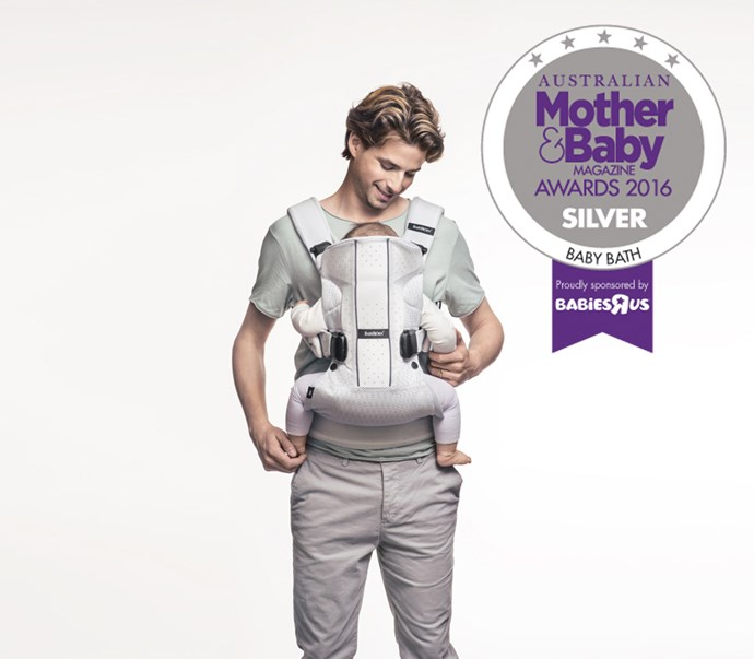 "CATEGORY: MOST POPULAR BABY CARRIER [BabyBjorn Baby Carrier One Air](http://www.babybjorn.com.au/|target=""_blank""), RRP $249.95. This carrier features an ergonomic 4-way front and back baby carrier in airy mesh fabric with extra padded shoulder straps. Perfect for newborn to three years."