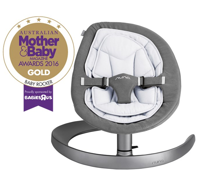 "CATEGORY: MOST POPULAR BABY ROCKER [Nuna Leaf Curv](http://www.babyhood.com.au/|target=""_blank""), RRP $399. Every bit as eco-smart and evolutionary as its big bro, the Leaf, the Leaf Curv throws a contemporary curve ball to traditional nurseries and living spaces. It can hold up to 60 kg too."