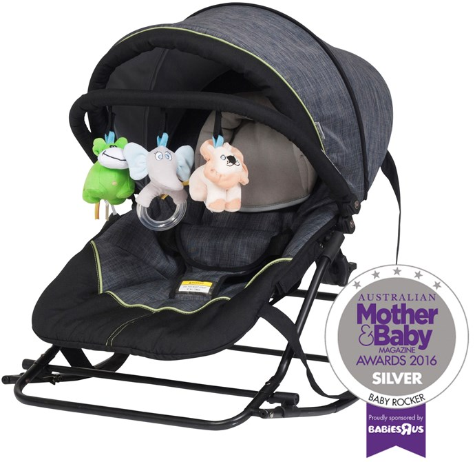 "CATEGORY: MOST POPULAR BABY ROCKER The [Steelcraft Denim Rocker](http://www.britax.com.au/|target=""_blank""), RRP $99, is a soft, padded rocker which can be used as a safe place for your baby to rest and play. Colourful toys entertain and provide stimulation as your child grows."