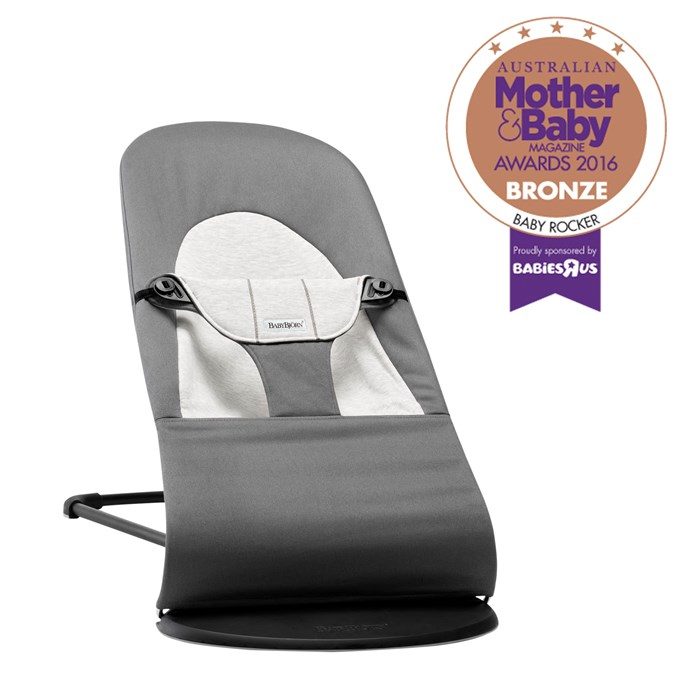 "CATEGORY: MOST POPULAR BABY ROCKER The [BabyBjorn Balance Soft Baby Rocker](http://www.babybjorn.com.au/|target=""_blank""), RRP $199.95, is a soft ergonomic baby bouncer that can be turned into a rocking children's chair. There are no batteries required and it can be used from newborn up to two years."