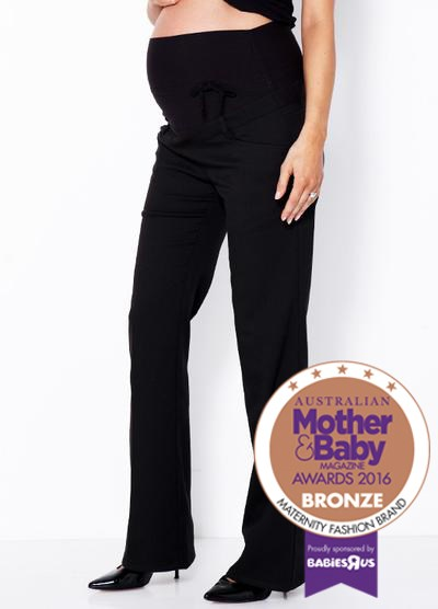 """*Mamaway Maternity Work Pants* Get comfortable and embrace your pregnant body with the [Mamaway Maternity Work Pants](https://www.mamaway.com.au/ target=""""_blank""""), $109.95. Featuring Mamaway's signature belly hugging, back supporting waist band, they have a slight flare and will ensure you look smart, but remain comfortable."""