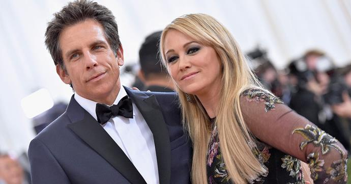 Ben Stiller with his wife of 16 years, Christine Taylor. PHOTO: Getty