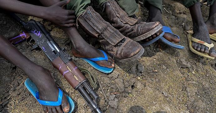 Child soldiers in Africa. PHOTO: Getty.