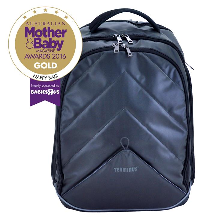 "CATEGORY: MOST POPULAR NAPPY BAG The [Terminus - Urban Dad Bag](http://www.terminusbag.com/|target=""_blank""), RRP $189 offers many compartments and handy features such as the nappy changing pad and quick access to wet wipes, keeping essentials close at hand. The backpack is specially designed to be large enough to fit a man's frame and will comfortably fit mum, too. Ergonomically shaped, the padded shoulder straps make carrying the backpack very comfortable and the straps easily hang on to a stroller."