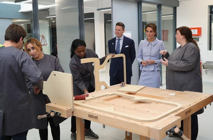 Catherine attends a woodworking class at Bouwkeet, a workshop project for teenagers.