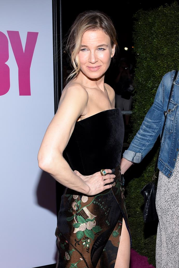 """Between gaining weight for her role in the first *Bridget Jones* movie to slimming down for her role as Roxie Hart in *Chicago*, Renee Zellwegger, 47, has been rumoured to have been another celeb who follows the [Atkins diet](http://www.fitness.com/articles/413/fitness_celebs_renee_zellweger_defeating_the_yo_yo_effect.php