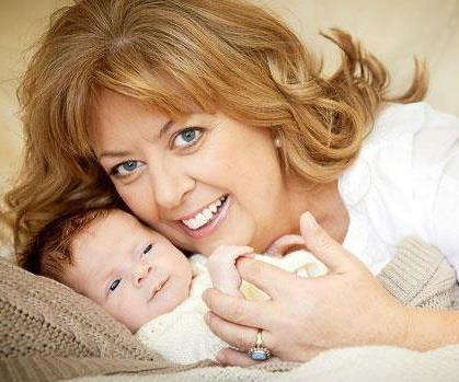 Anthea Nicholas with her miracle baby.