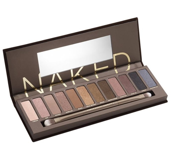 According to sources, Kate credits her shimmery neutral lids to Urban Decay's Naked Palette