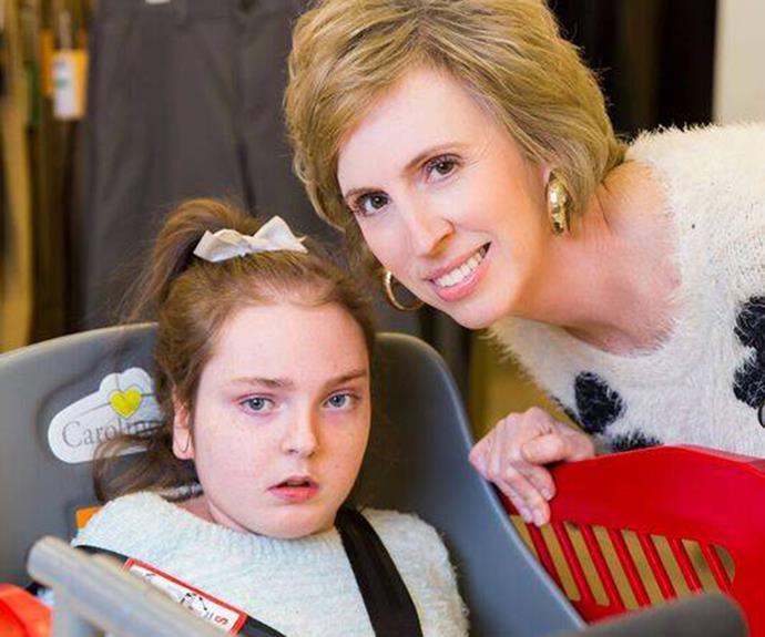 Drew Ann Long with her daughter Caroline who was the inspiration for Caroline's Cart. PHOTO: Caroline's Cart/Facebook.