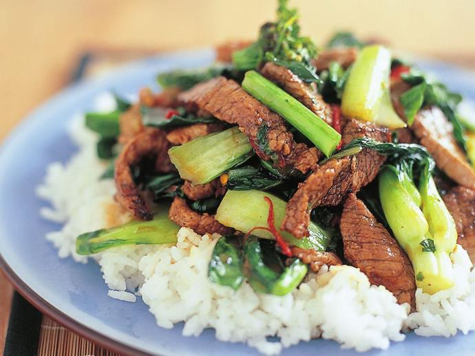 """This [stirfried beef, bok choy and gai lan](http://www.foodtolove.com.au/recipes/stir-fried-beef-bok-choy-and-gai-larn-29803 target=""""_blank"""" rel=""""nofollow"""") is as healthy as it is delicious."""