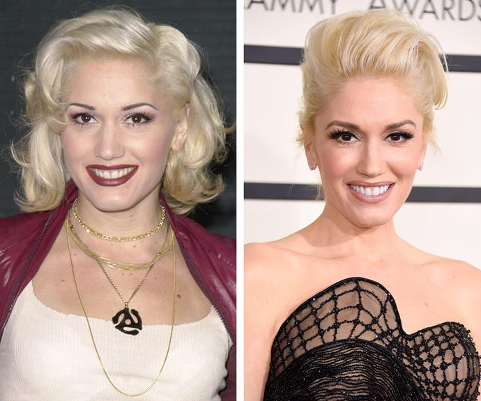 *No Doubt* star Gwen Stefani looks almost identical to herself from 15 years ago.