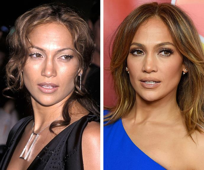And 16 years on, Jennifer Lopez is a still a mirror image of her younger self.