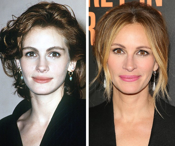 In the 25 years between these two snaps, Julia Roberts has barely aged a day.