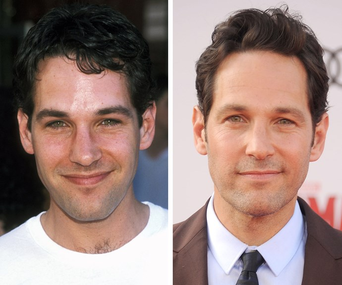 Actor Paul Rudd, pictured 18 years apart, must have a pretty solid beauty regime...