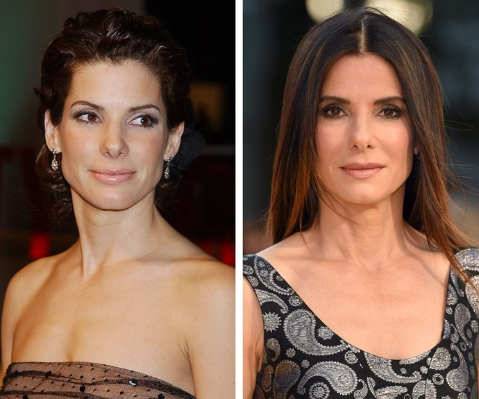 At 52, Sandra Bullock is doing a wonderful job maintaining her youthful complexion from 13 years ago.