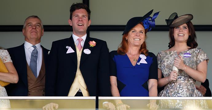 Prince Andrew, Jack Brooksbank, the Duchess of York and Princess Eugenie all enjoy a day at Royal Ascot.