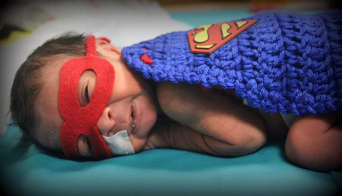"""I figured what better theme than superheroes for those little preemies that fight so hard,"" says nurse Katie Windsor, who dressed up babies for Halloween in her hospital NICU. PHOTO: Catawba Valley Medical Center Facebook."