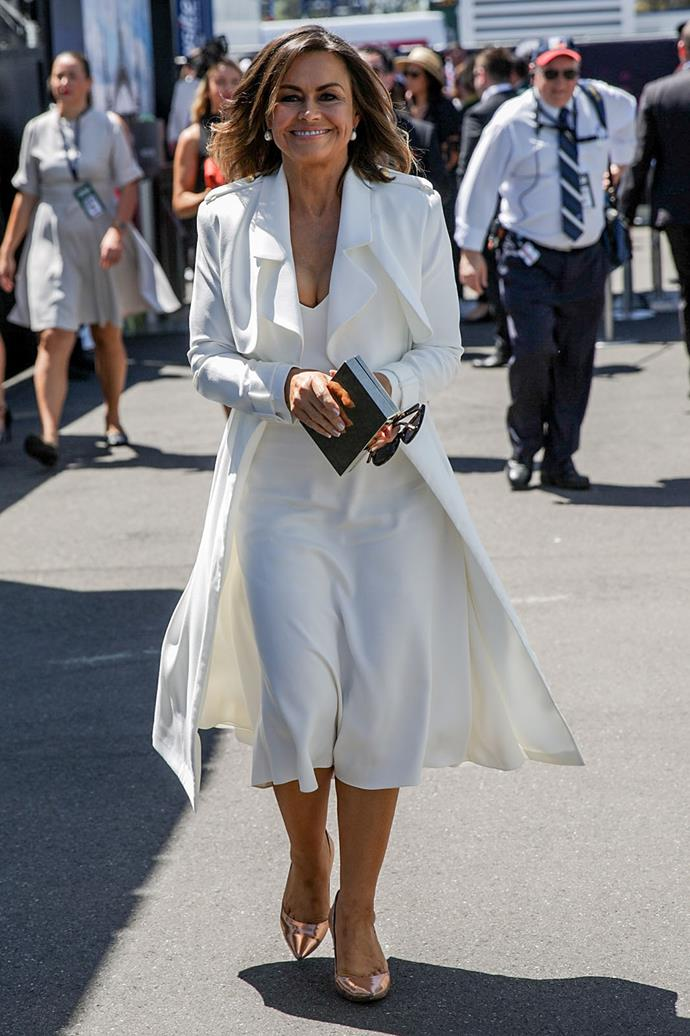 All in white for Derby Day.