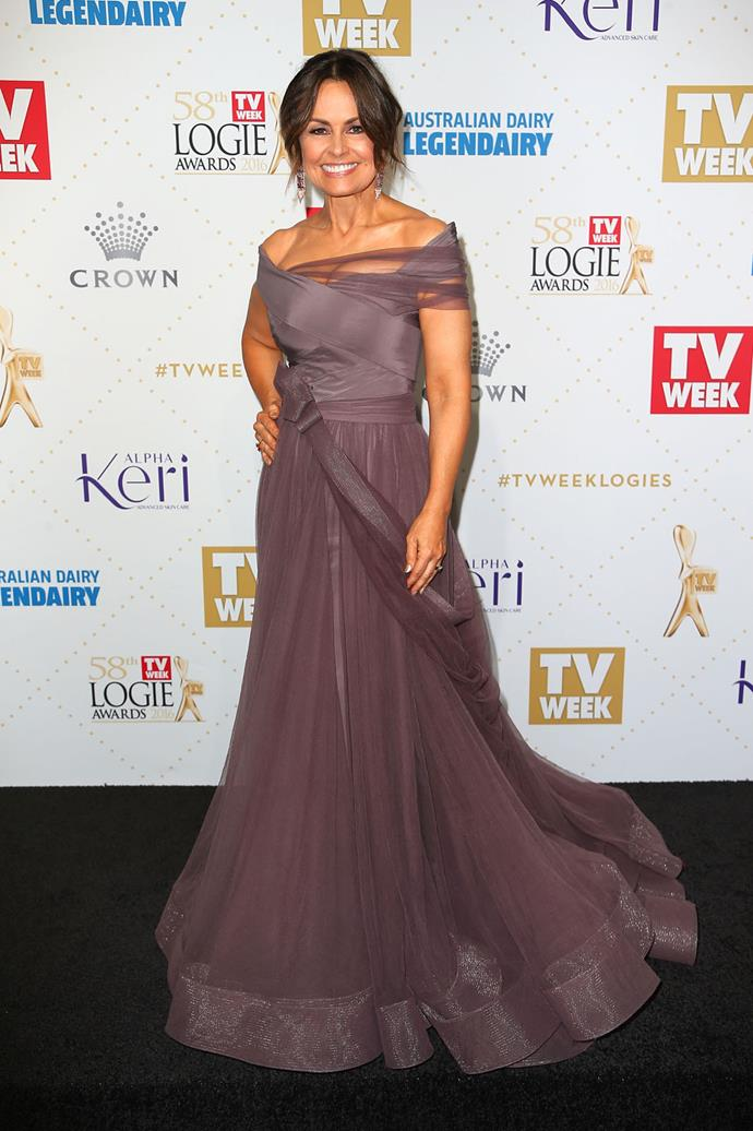 A full-bodied floor-length gown for the Logies.