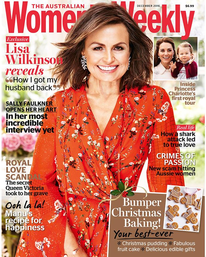 Read our full interview with Lisa Wilkinson and Peter FitzSimons, in the December issue of The Australian Women's Weekly, ON SALE NOW!
